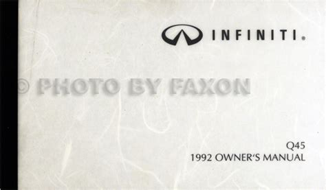 car owners manuals free downloads 1992 infiniti q lane departure warning 1992 infiniti q45 owner s manual original