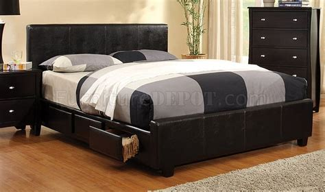 cm7009 burlington bedroom w leatherette platform bed options