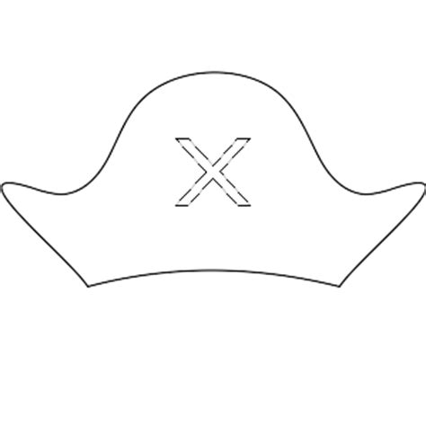 coloring pages of pirate hats pirate hat coloring page