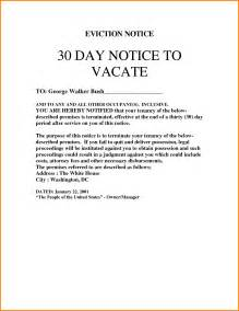 9 30 day eviction notice template cashier resume