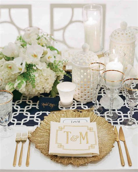 and white table decorations for a wedding 36 gold wedding ideas martha stewart weddings