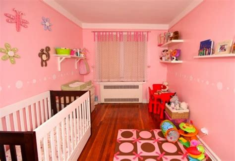 full pink color girl baby room ideas decorate top nursery wall paint color ideas for 2015