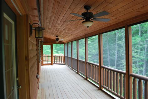 cabin floor plans with screened porch musketeer log cabin from 66 900 click to view floorplans