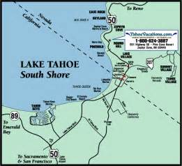 map lake tahoe california lake tahoe south shore map lake tahoe