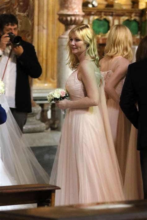 Kirsten Dunst is a Bridesmaid at the Rome Wedding of Her