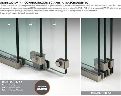 sistemi per porte scorrevoli in vetro sistema porta scorrevole alluminio lmtr 174 sistemi in