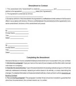 Letter Of Amendment To Employment Contract Image Gallery Format Amendment