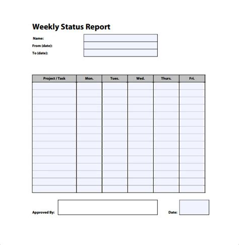 Weekly Status Report Template 26 Free Word Documents Download Free Premium Templates Weekly Progress Report Template