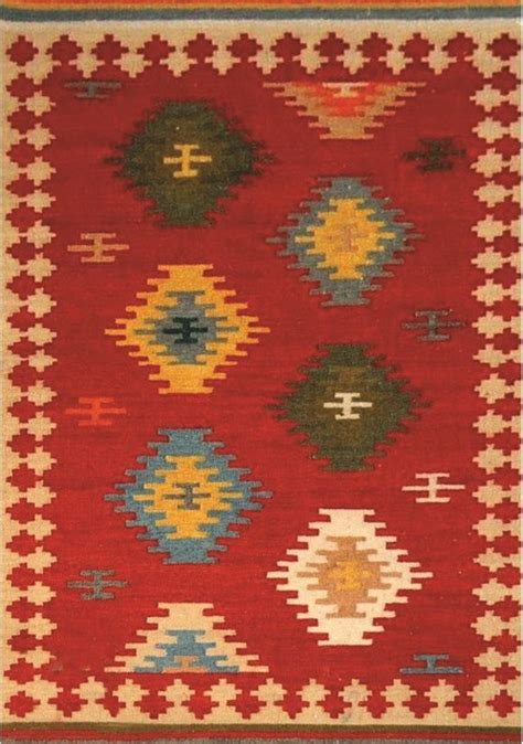 new mexico rugs kalora raja new mexico wool dhurry rectangular area rug southwestern area rugs by