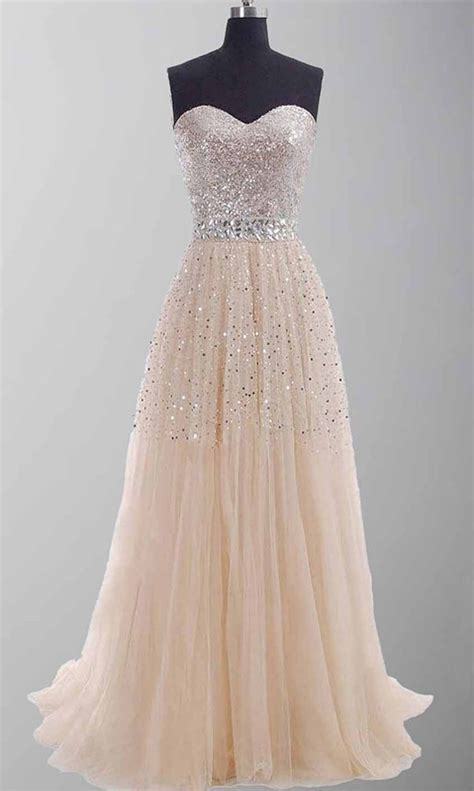 Prom Wedding Dresses Uk by Chagne Sequin Sweetheart Prom Gowns Ksp254 163 109 00