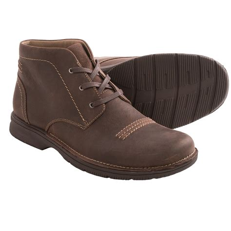 clarks boots clarks senner drive leather chukka boots for save 40