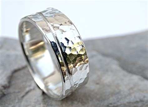 wave ring silver mens engagement ring unique mens