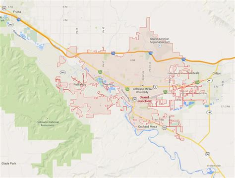 grand map grand junction colorado map