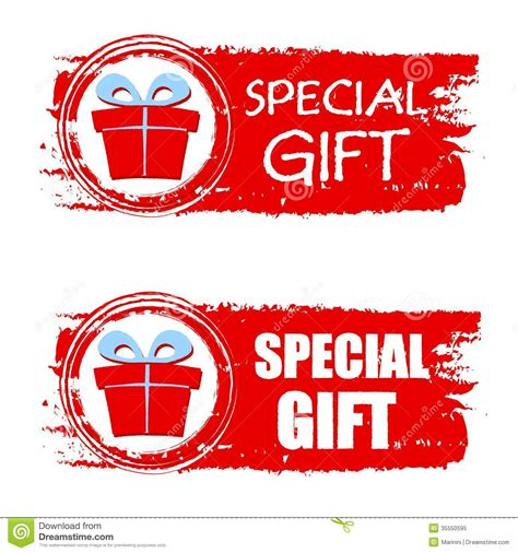 special gifts special gift and present box on banner