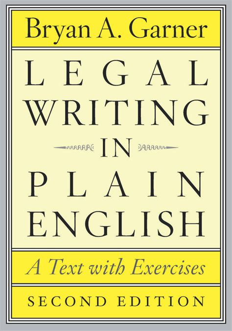 exercise of biography text legal writing in plain english second edition a text