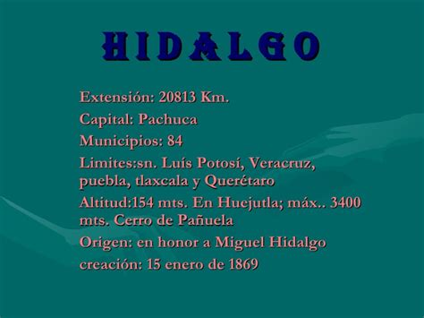 hidalgo slide share hidalgo