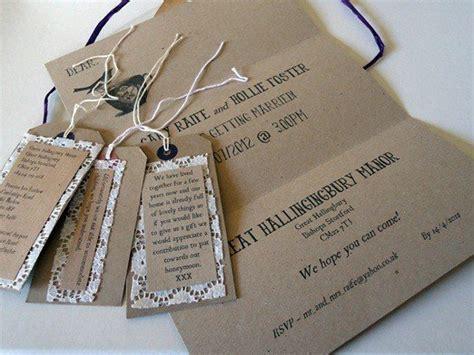 brown paper wedding stationery uk brown paper wedding invitations