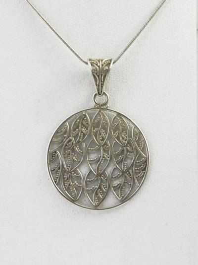 Kalung Murah Korea Chain Metal Leaf Silver bali windswept sterling silver leaf pendant resa royale