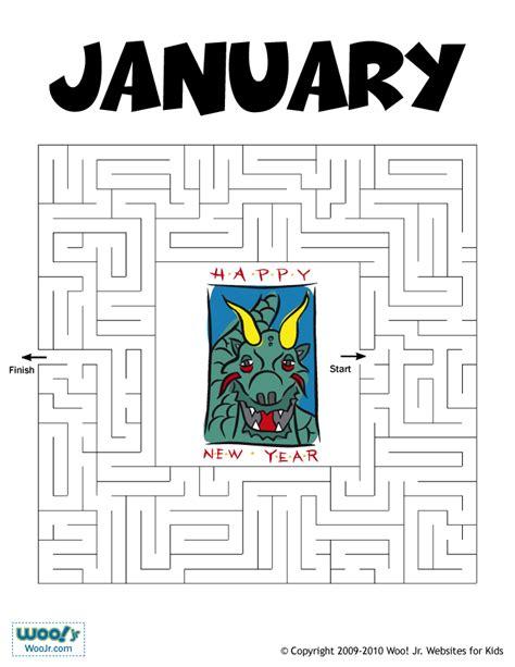 january printable games printable maze for january animal jr