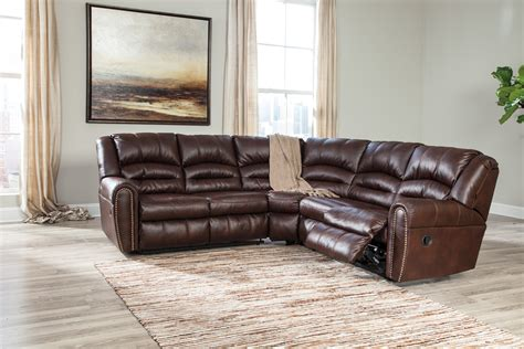 ashley furniture black leather sectional reclining leather sectionals
