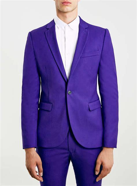 Dpurple Coat Blazer Ungu Korea Jaket topman purple fit suit jacket in purple for lyst