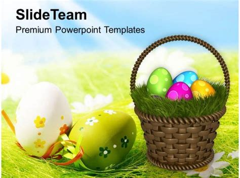 easter egg clipart colourful eggs  garden theme powerpoint templates  backgrounds