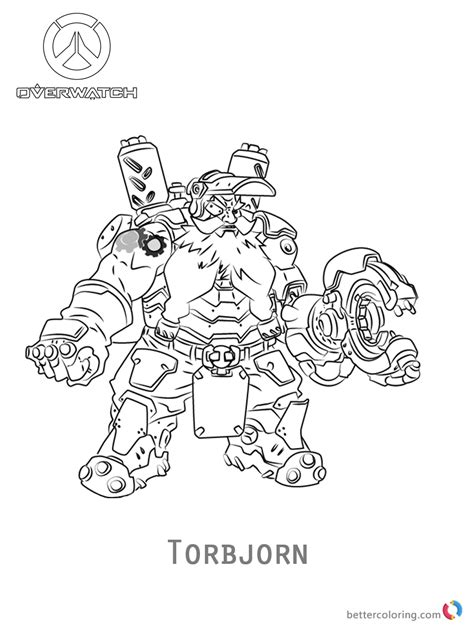 libro overwatch coloring book torbjorn from overwatch coloring pages free printable