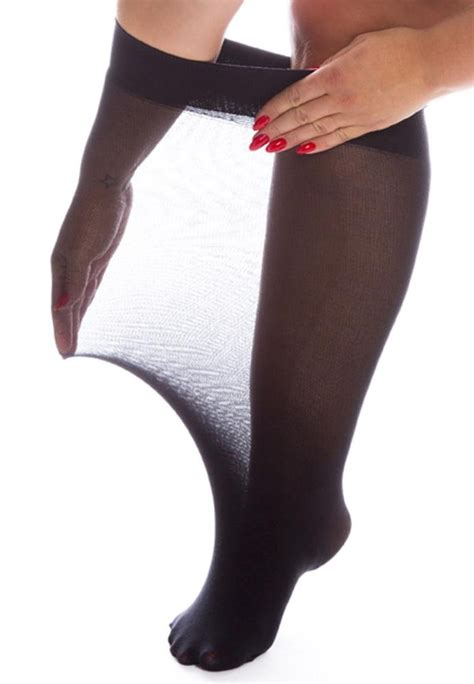 Superwide Colour all superwide 120 denier knee highs plus size