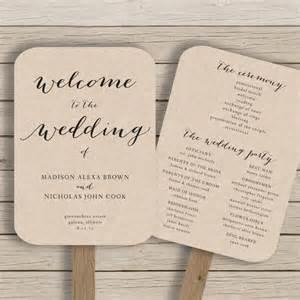 fan invitation template rustic wedding fan programs diy wedding invitation sle