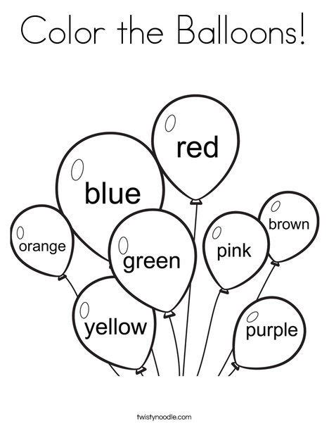 coloring pages for toddlers preschool and kindergarten color the balloons coloring page from twistynoodle com