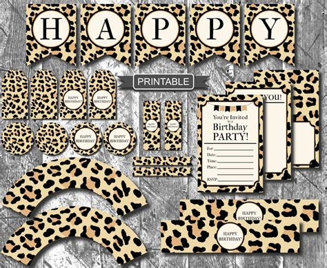 leopard decorations diy leopard print cheetah print birthday decorations