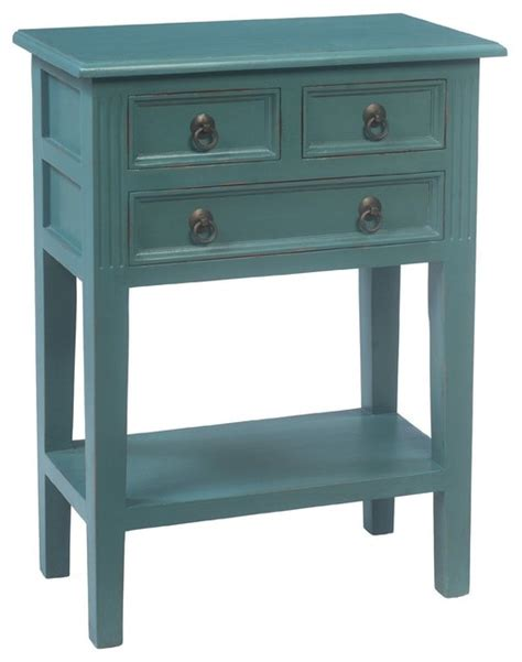 painted accent table josie hand painted turquoise solid mahogany console table