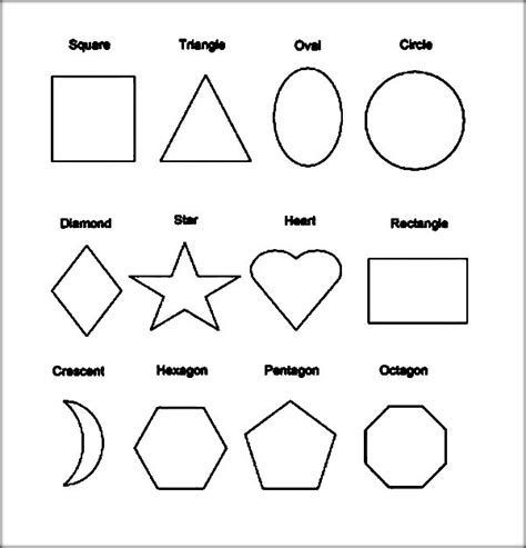 printable shapes with color shapes coloring pages color zini