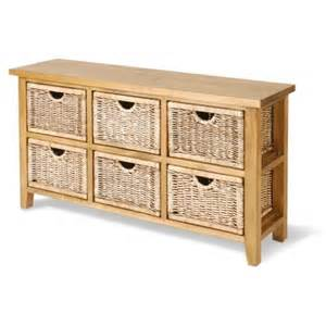 home home wicker basket low six storage chest of drawer