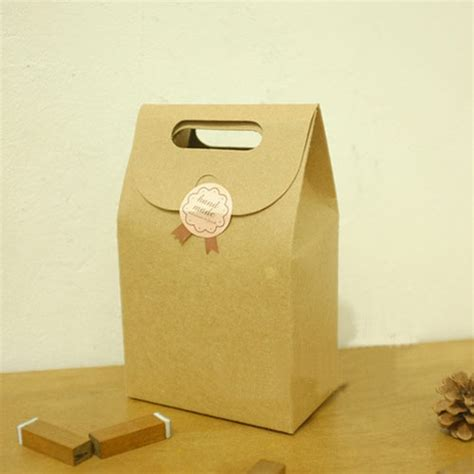 How To Make Paper Goody Bags - brown kraft paper flat bottom wedding favor packaging