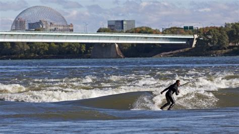 Surfing Montreal by Surfing The River Rapids In Montreal Canada