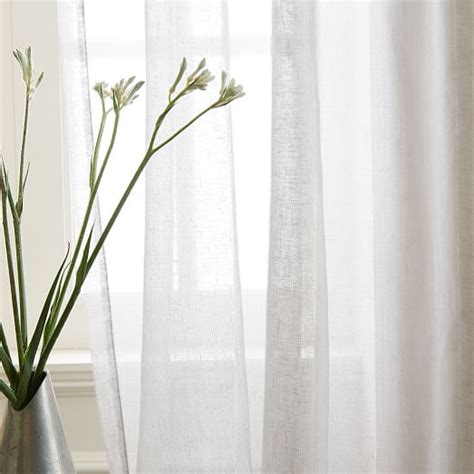 Silver Sheer Curtains Sheer Metallic Printed Curtain Platinum Silver West Elm