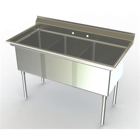 Three Compartment Kitchen Sink Commercial Sinks Aero Nsf 3 Compartment Deluxe Sinks No Drainboard Kitchensource