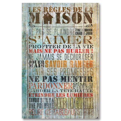 Tableau Regle De La Maison 4865 by Tableau D 233 Coratif Citation Les R 232 Gles De La Maison