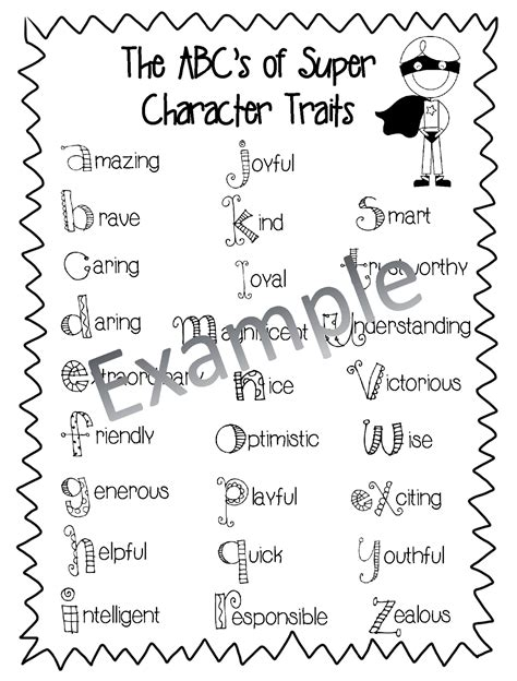 Character Traits Letter H Totally Terrific In Characters Are