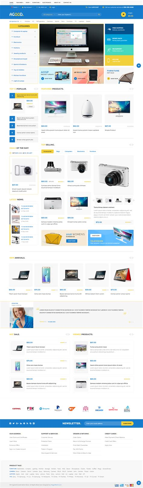 themeforest magento 2 agood responsive multipurpose magento 2 theme by