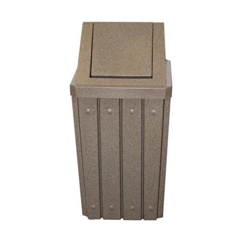 two way swing door trash receptacle 32 gallon outdoor kolorcans