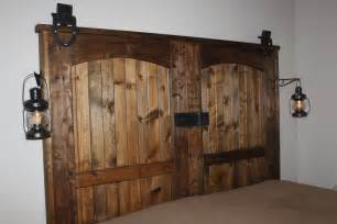 Make A Barn Door Our Completed Quot New Quot Barn Door Headboard