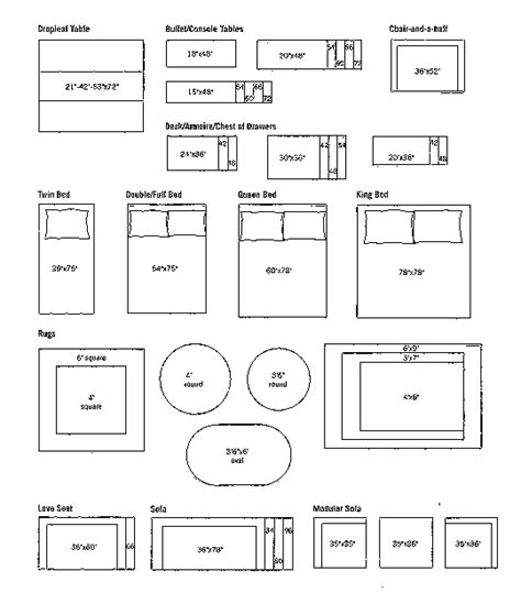 cut out furniture templates