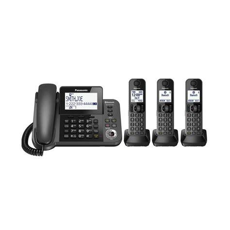 Panasonic Kx Tg3411 Telephone Wireless Hitam jual panasonic kx tgf383 dect 3 handset telephone cordless hitam harga kualitas