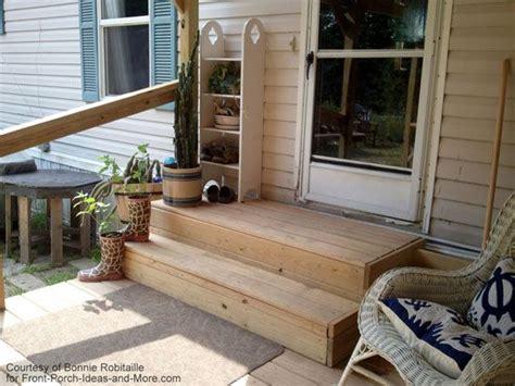 wooden mobile home porch steps porch s decks