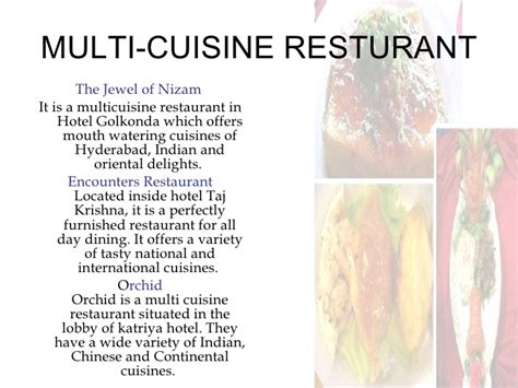 multi cuisine meaning hyderabad ppt