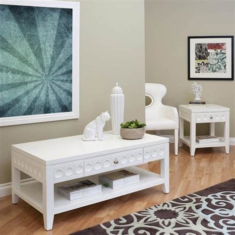 modern white coffee table sets