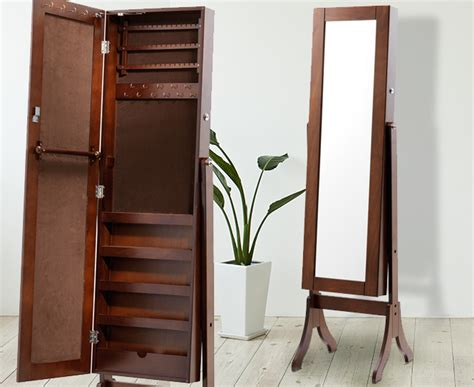 full length mirror jewellery cabinet australia full length mirrored jewellery cabinet brown great