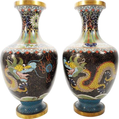 Cloisonne Vase by Antique 8 Cloisonn 233 Vases Quot Dragons Quot From